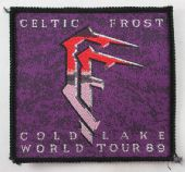 Celtic Frost - 'Cold Lake World Tour 89' Woven Patch